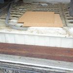 Kwila wood steps - flash