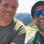 Scott + Glenn on Old Man summit in Richmond Forest Park
