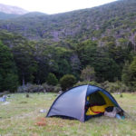 Our Hilleberg tent at the Old Man hut