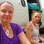 Hot and sweaty at the Lake Chalice carpark