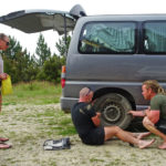 Vanlife flat tire