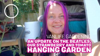 Vanlife gardening titlecard