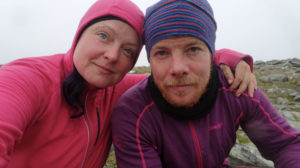 Karma & Scott mountaineering in Sarek, Sweden