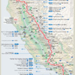 CA resupply map (courtesy of Halfmile - www.pctmap.net)