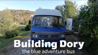 building dory - the blue adventure bus