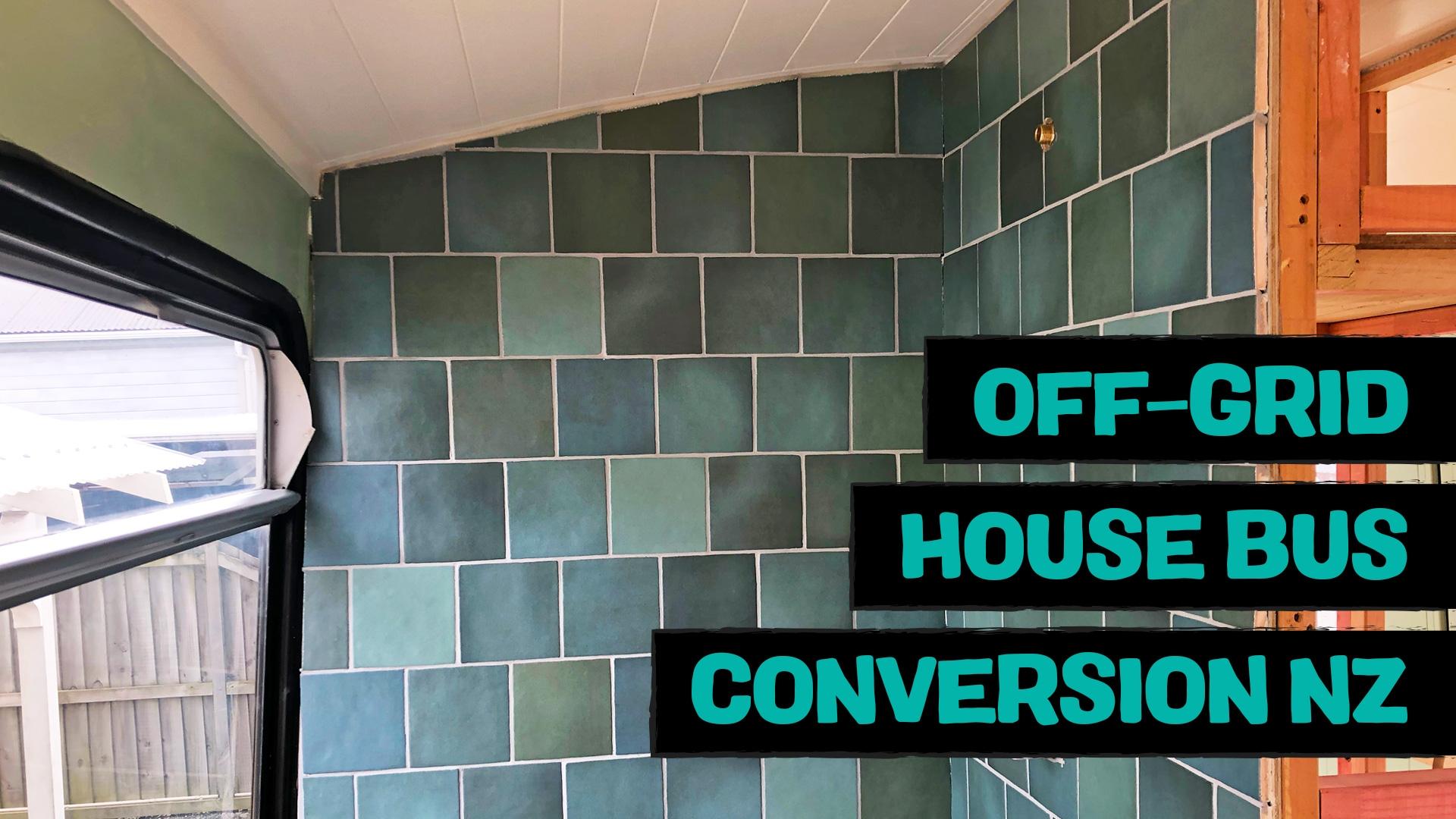Tiled shower and motorhome registration